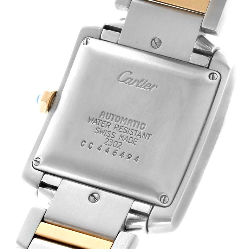 10506 Cartier Tank Francaise Large Steel 18K Yellow Gold Date Watch W51005Q4 SwissWatchExpo