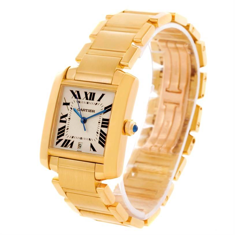11441 Cartier Tank Francaise Large 18K Yellow Gold Watch W50001R2 SwissWatchExpo