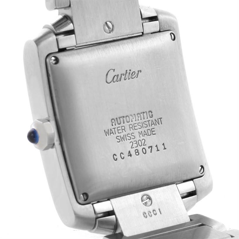 11323 Cartier Tank Francaise Automatic Silver Dial Date Watch W51002Q3 SwissWatchExpo