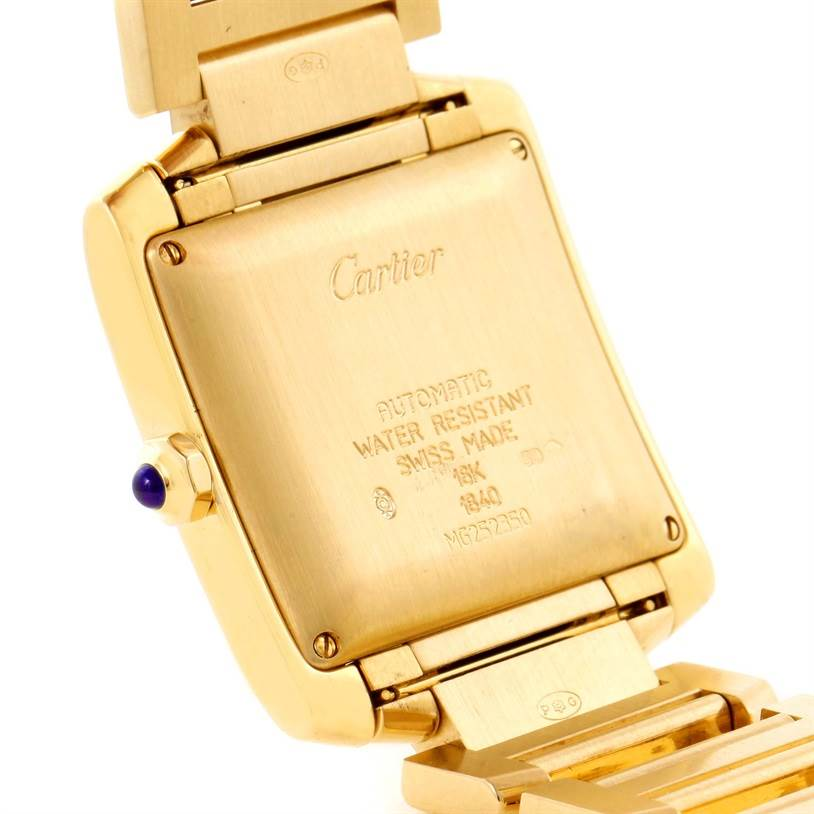 11833 Cartier Tank Francaise Large 18K Yellow Gold Unisex Watch W50001R2 SwissWatchExpo