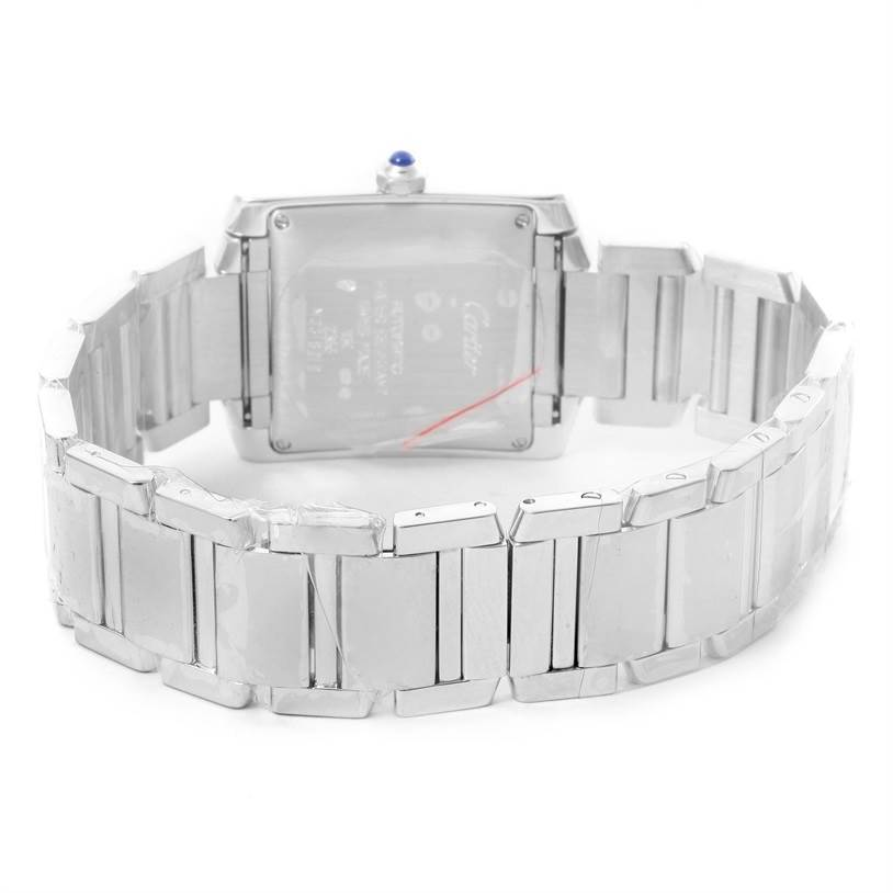 12086 Cartier Tank Francaise Large 18K White Gold Unisex Watch W50011S3 SwissWatchExpo