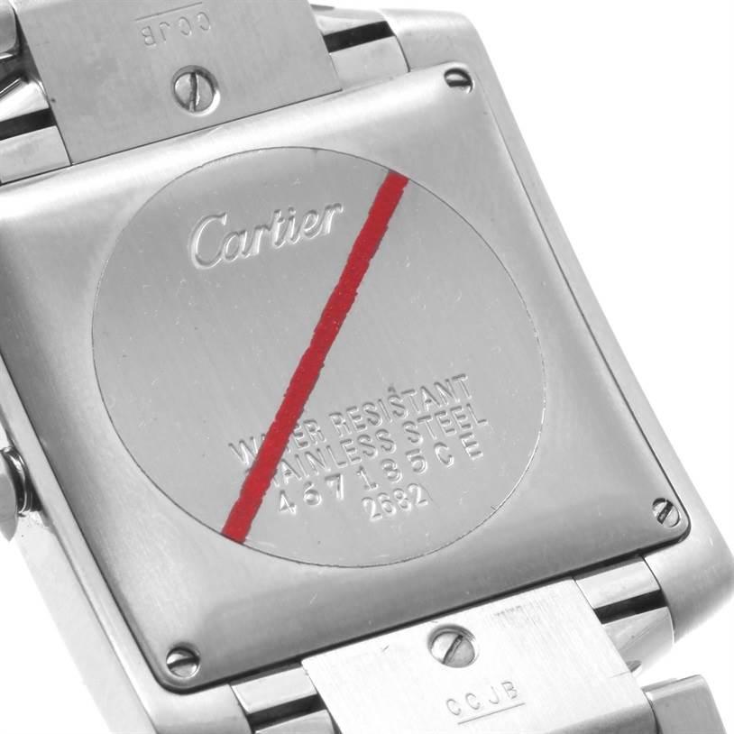 12199 Cartier Tank Francaise Quartz Silver Dial Large Unisex Watch SwissWatchExpo