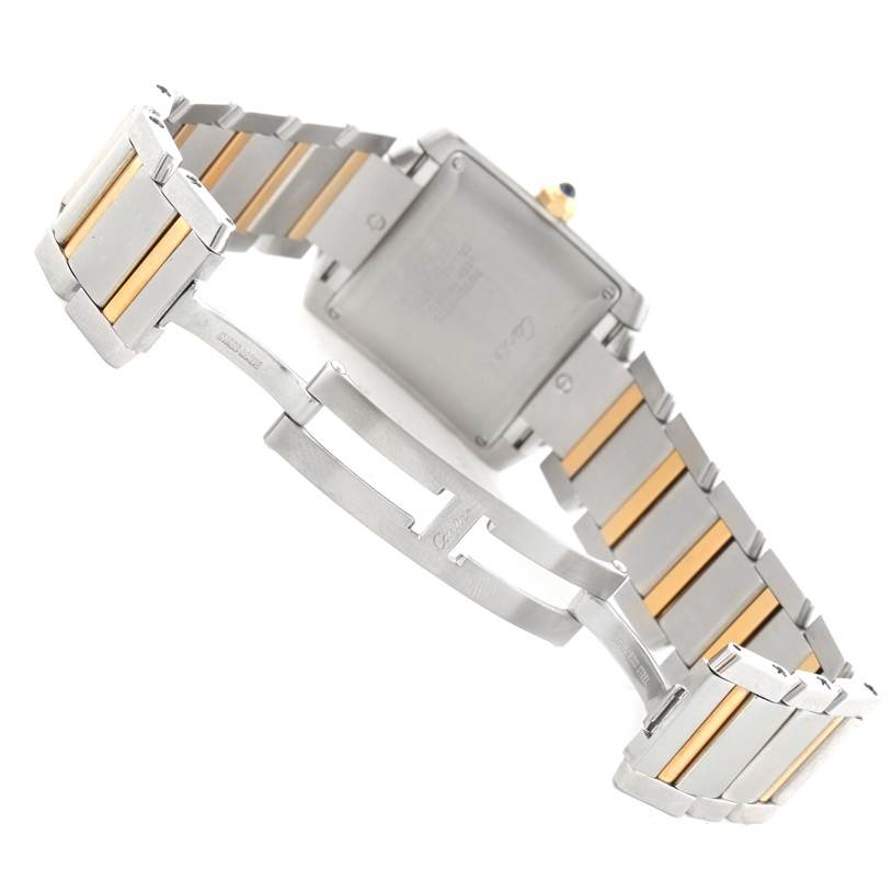 12453 Cartier Tank Francaise Large Steel 18K Yellow Gold Date Watch W51005Q4 SwissWatchExpo
