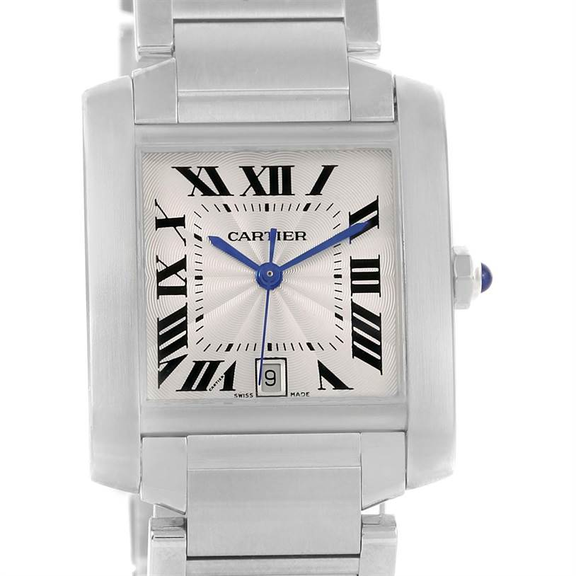 11610 Cartier Tank Francaise Automatic Stainless Steel Large Watch W51002Q3 SwissWatchExpo