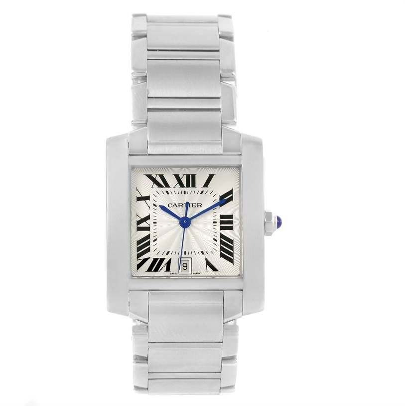 13062 Cartier Tank Francaise Automatic Stainless Steel Large Watch W51002Q3 SwissWatchExpo