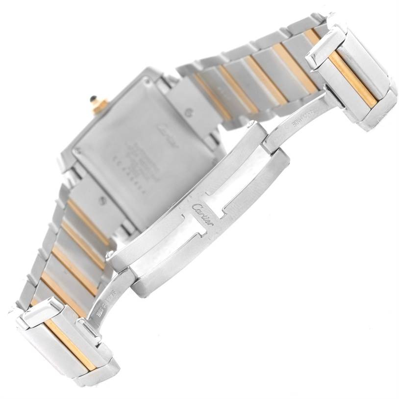 12716 Cartier Tank Francaise Large Steel 18K Yellow Gold Date Watch W51005Q4 SwissWatchExpo