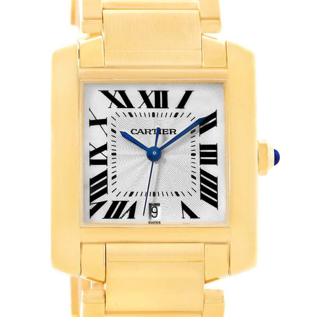 13575 Cartier Tank Francaise Large 18K Yellow Gold Watch W50001R2 SwissWatchExpo