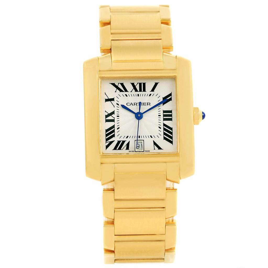 14001 Cartier Tank Francaise Large 18K Yellow Gold Automatic Watch W50001R2 SwissWatchExpo