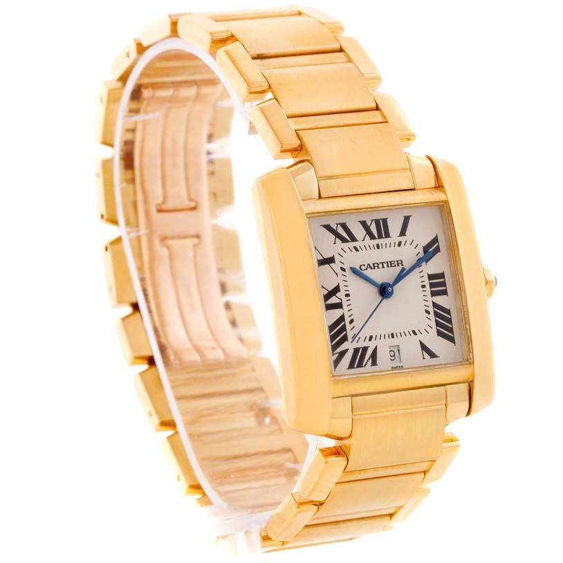 13671 Cartier Tank Francaise Large 18K Yellow Gold Watch W50001R2 SwissWatchExpo