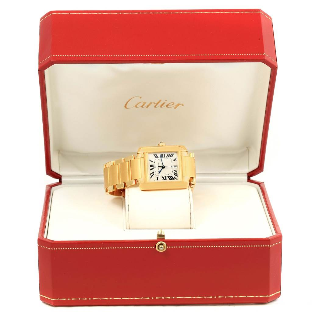 14589 Cartier Tank Francaise Large 18K Yellow Gold Automatic Watch W50001R2 SwissWatchExpo