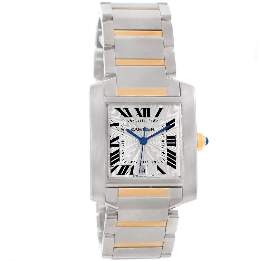 14131S Cartier Tank Francaise Large Steel 18K Yellow Gold Watch W51005Q4 SwissWatchExpo