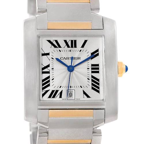 Photo of Cartier Tank Francaise Large Steel Yellow Gold Unisex Watch W51005Q4