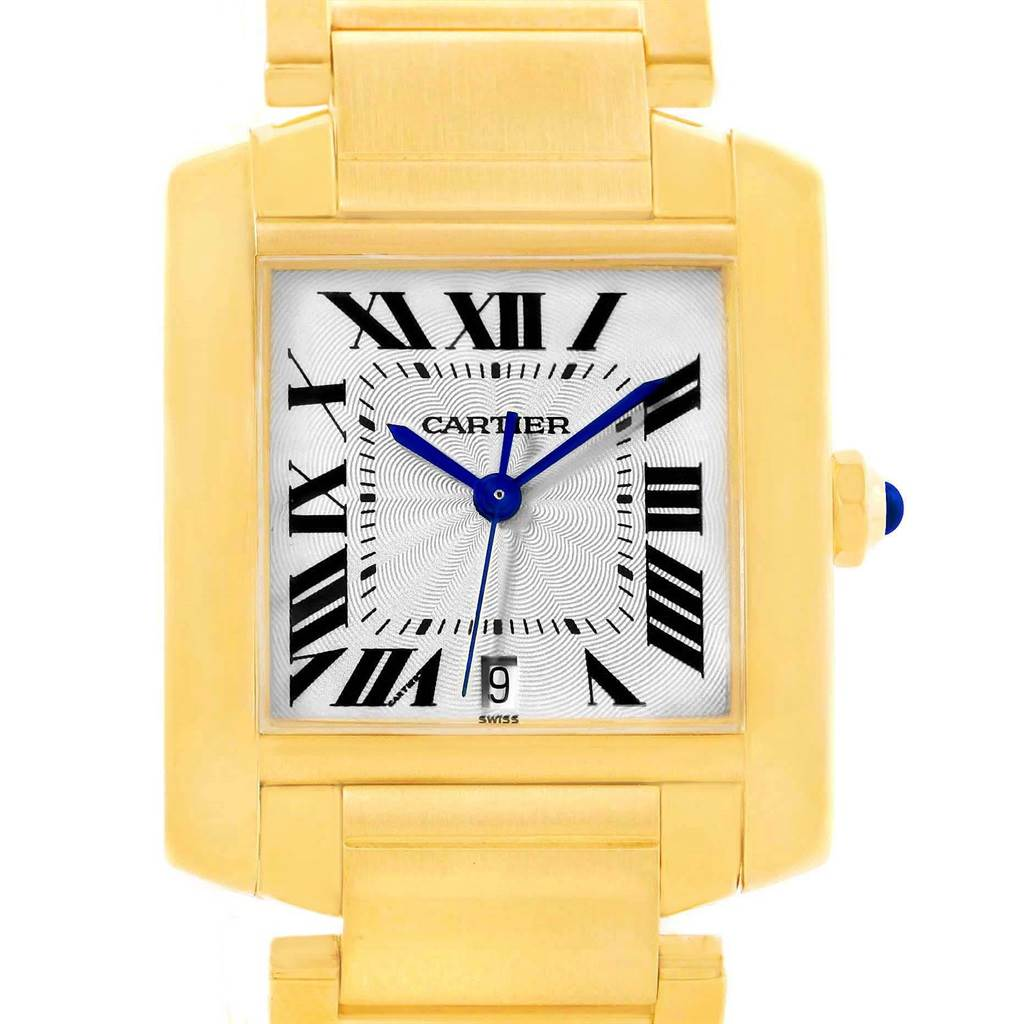 15301 Cartier Tank Francaise Large 18K Yellow Gold Automatic Watch W50001R2 SwissWatchExpo