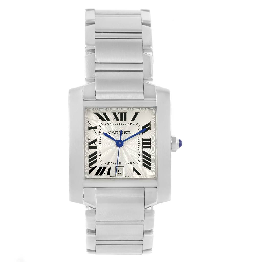 Cartier Tank Francaise Automatic Stainless Steel Large Watch W51002Q3 SwissWatchExpo