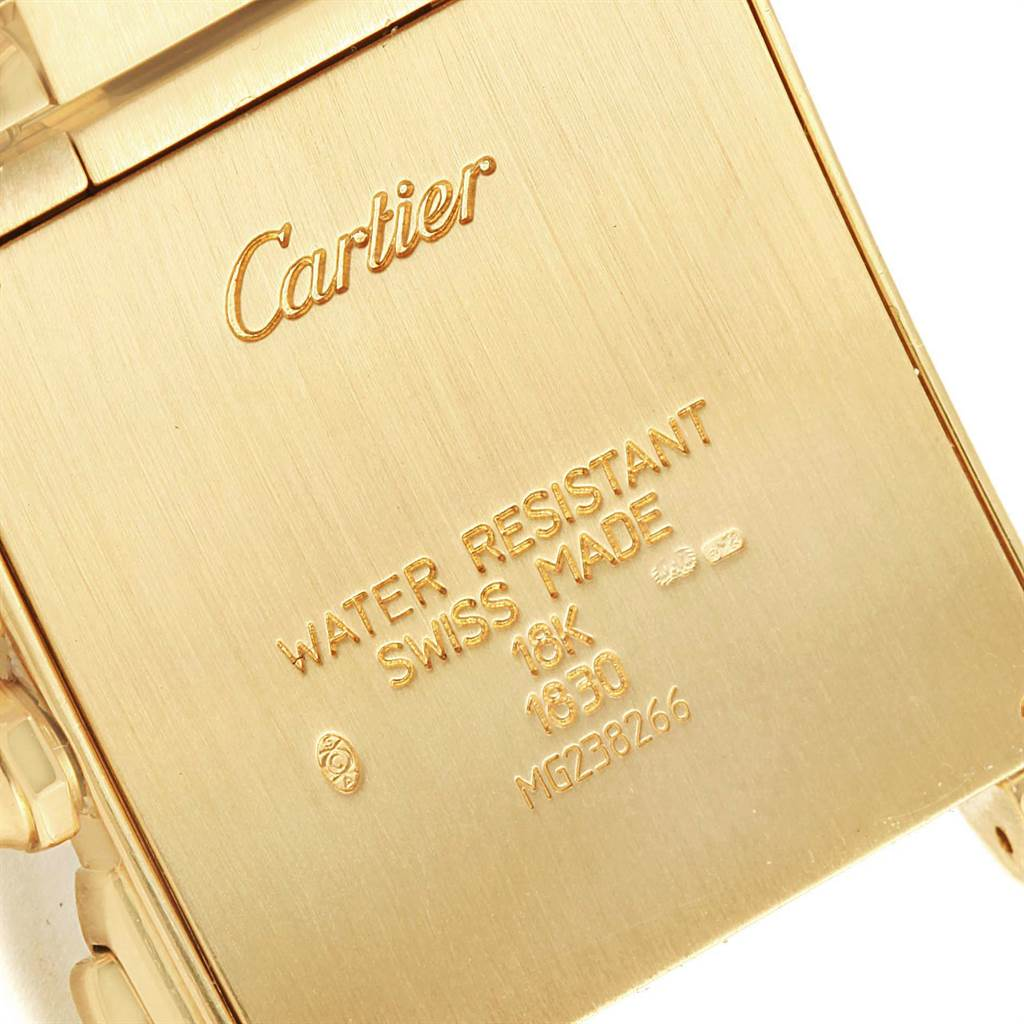 15473 Cartier Tank Francaise Chronograph Yellow Gold Mens Watch W50005R2 SwissWatchExpo