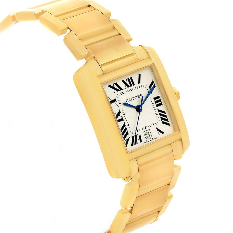 Cartier Tank Francaise 18K Yellow Gold Automatic Unisex Watch W50001R2 SwissWatchExpo