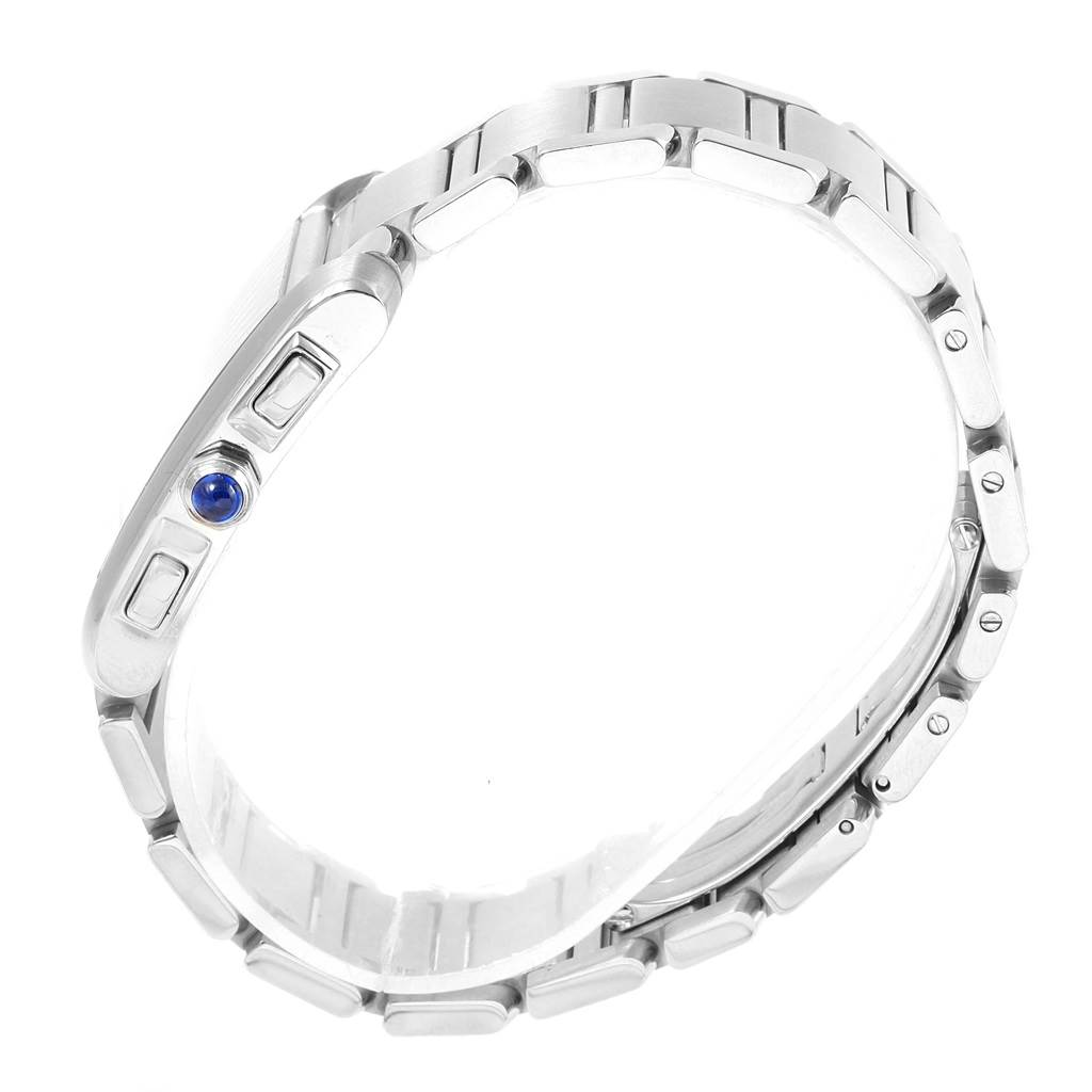 Cartier Tank Francaise Stainless Steel Chronoflex Watch W51001Q3 SwissWatchExpo