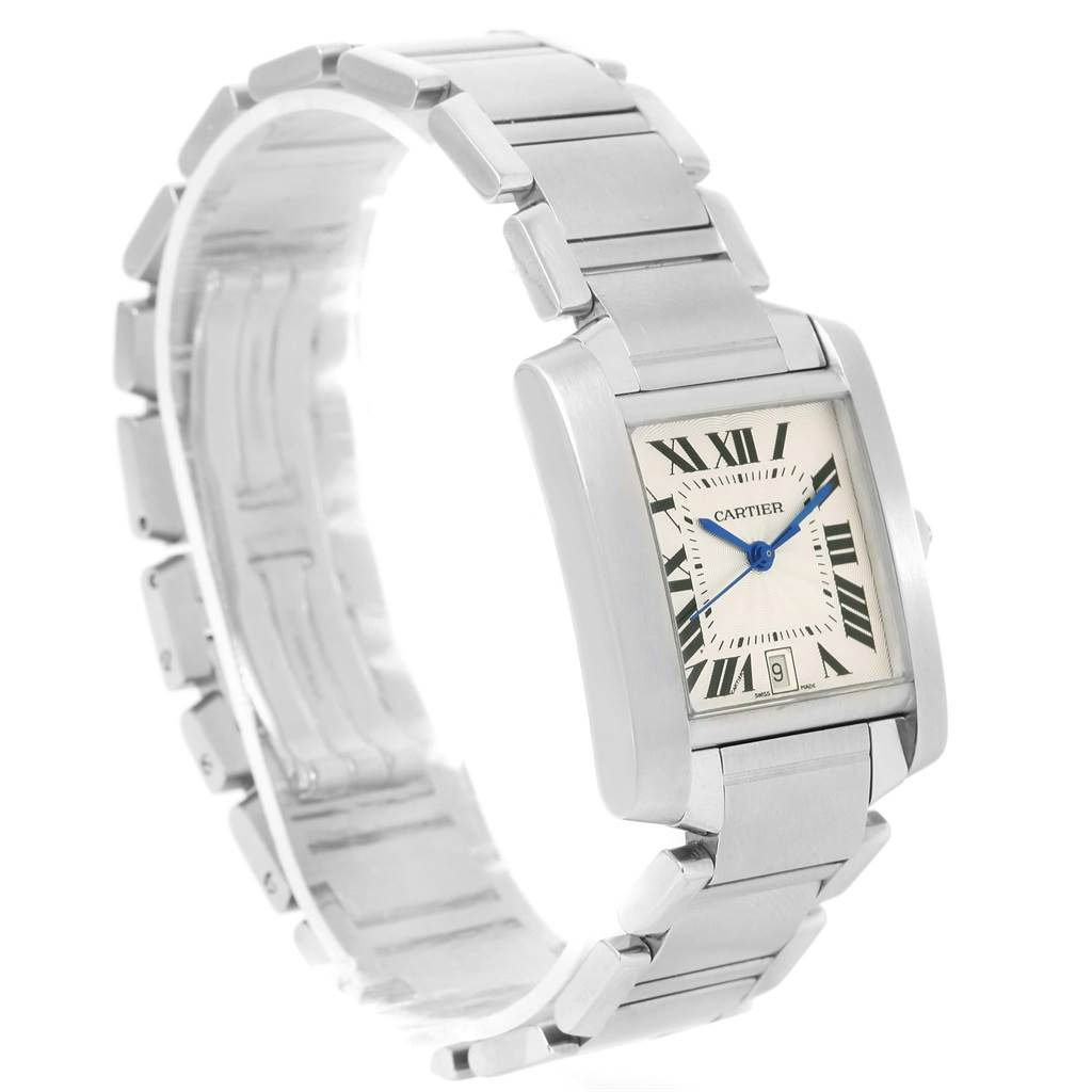 Cartier Tank Francaise Silver Dial Automatic Watch Model W51002Q3 SwissWatchExpo