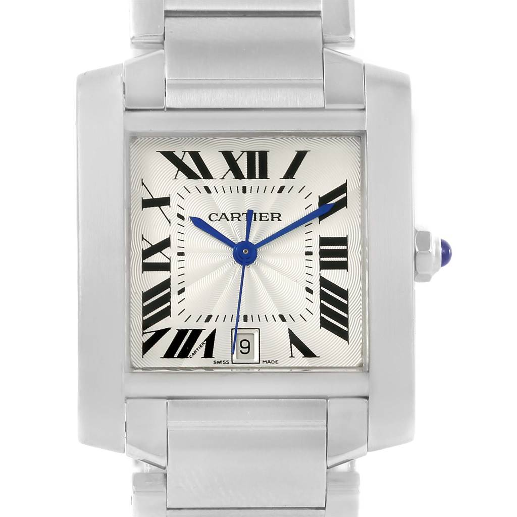 3744X Cartier Tank Francaise Silver Dial Automatic Watch Model W51002Q3 SwissWatchExpo