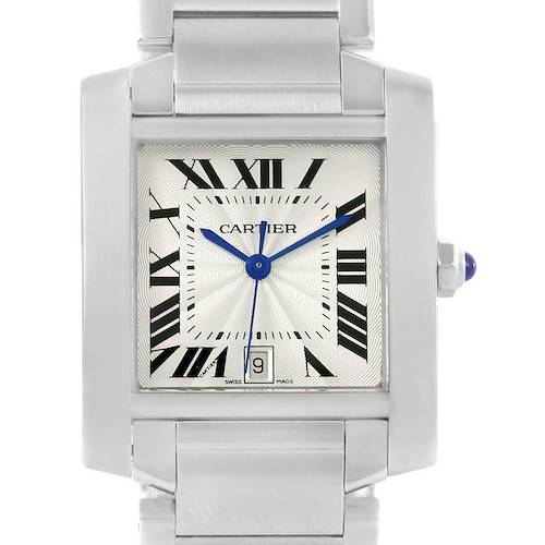 Photo of Cartier Tank Francaise Silver Dial Automatic Watch Model W51002Q3