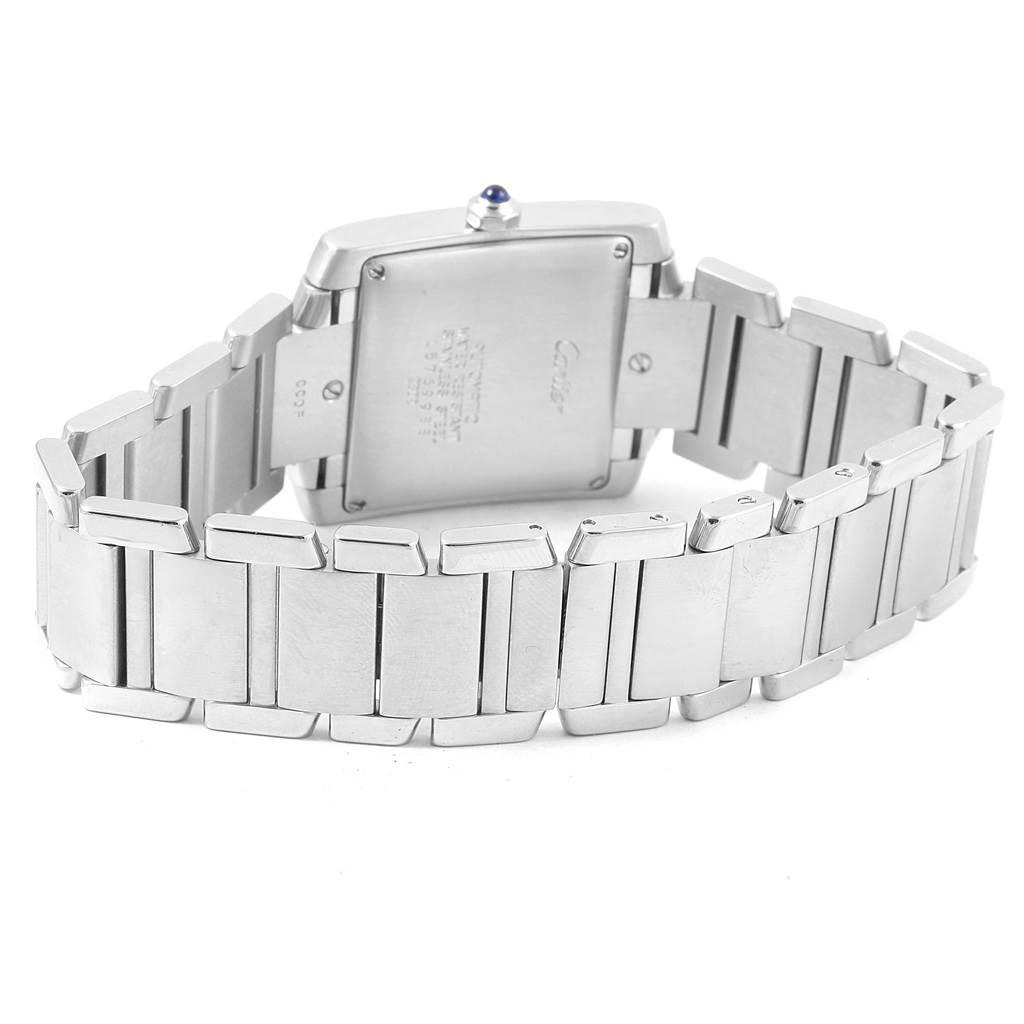 Cartier Tank Francaise Silver Roman Dial Steel Watch Model W51002Q3 SwissWatchExpo