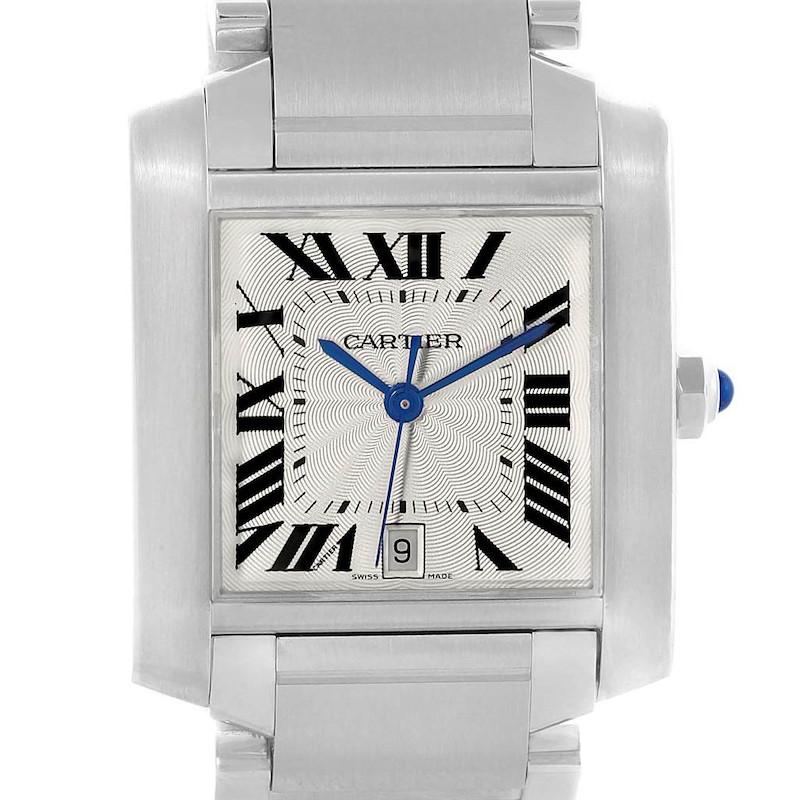 Cartier Tank Francaise Silver Dial Unisex Watch Model W51002Q3 SwissWatchExpo