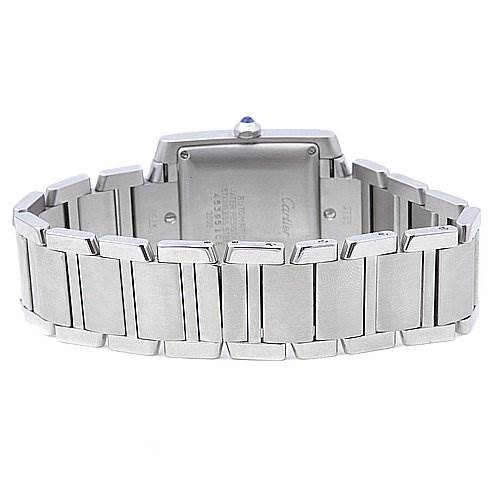 2064 Cartier Tank Francaise Large Steel Watch W51002Q3 SwissWatchExpo