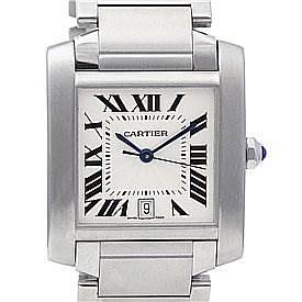 Photo of Cartier Tank Francaise Large Steel Watch W51002Q3
