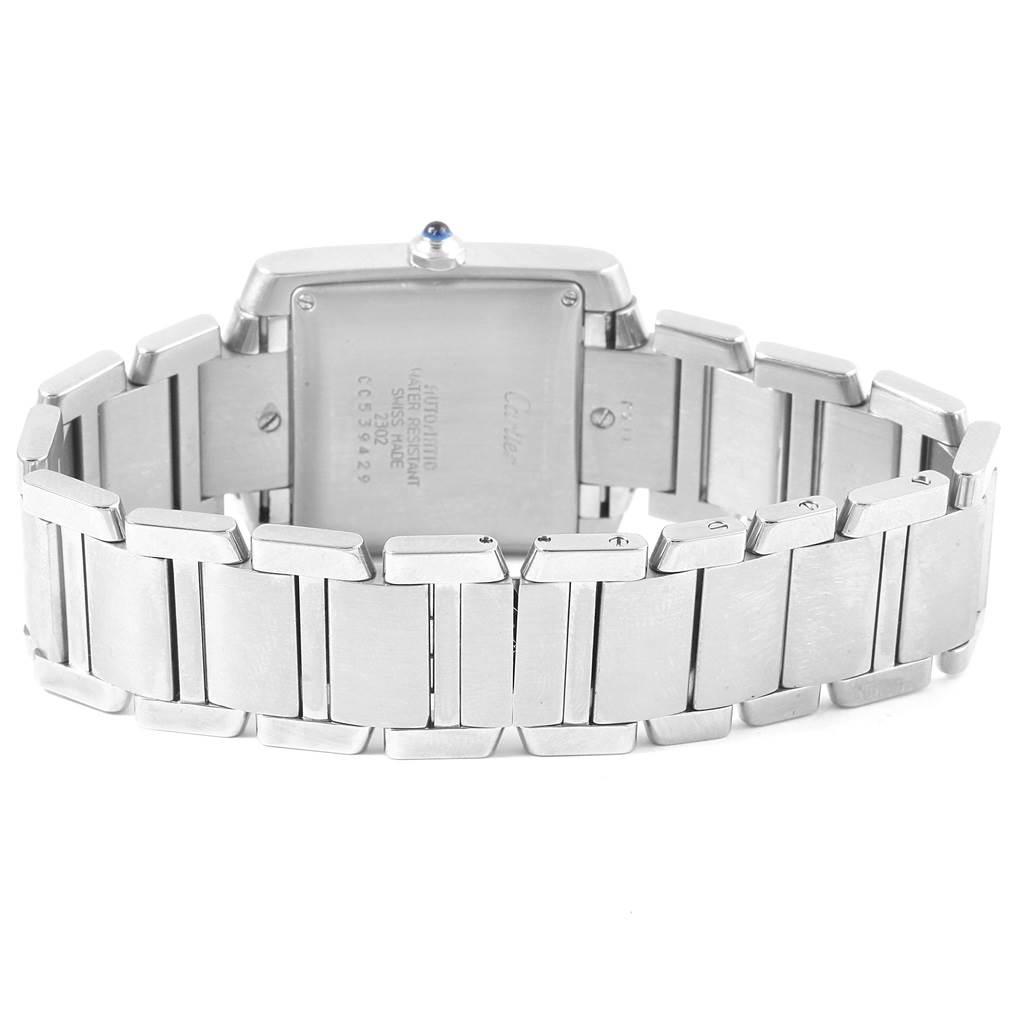367K Cartier Tank Francaise Roman Numerals Steel Mens Watch W51002Q3 SwissWatchExpo
