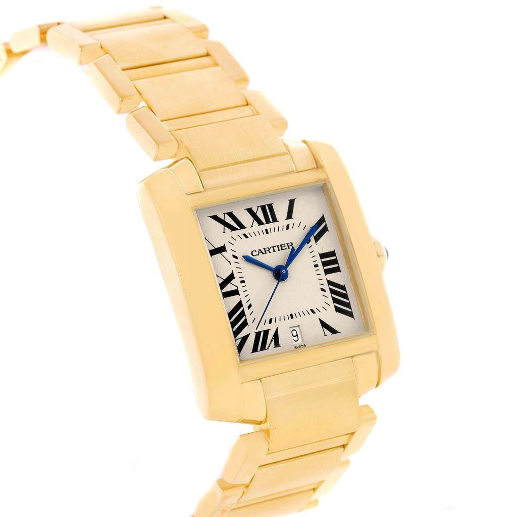 Cartier Tank Francaise Large 18K Yellow Gold Automatic Watch W50001R2 SwissWatchExpo