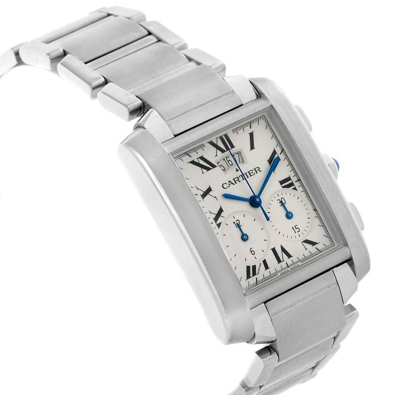Cartier Tank Francaise Chrongraph Steel Mens Watch W51024Q3 SwissWatchExpo