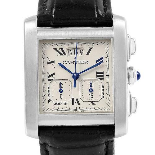 Photo of Cartier Tank Francaise XXL Chronoreflex Steel Mens Watch W5101455