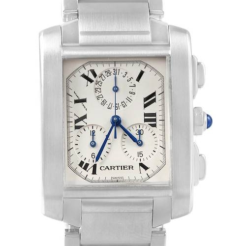 Photo of Cartier Tank Francaise Chronoflex Stainless Steel Watch W51001Q3 Box