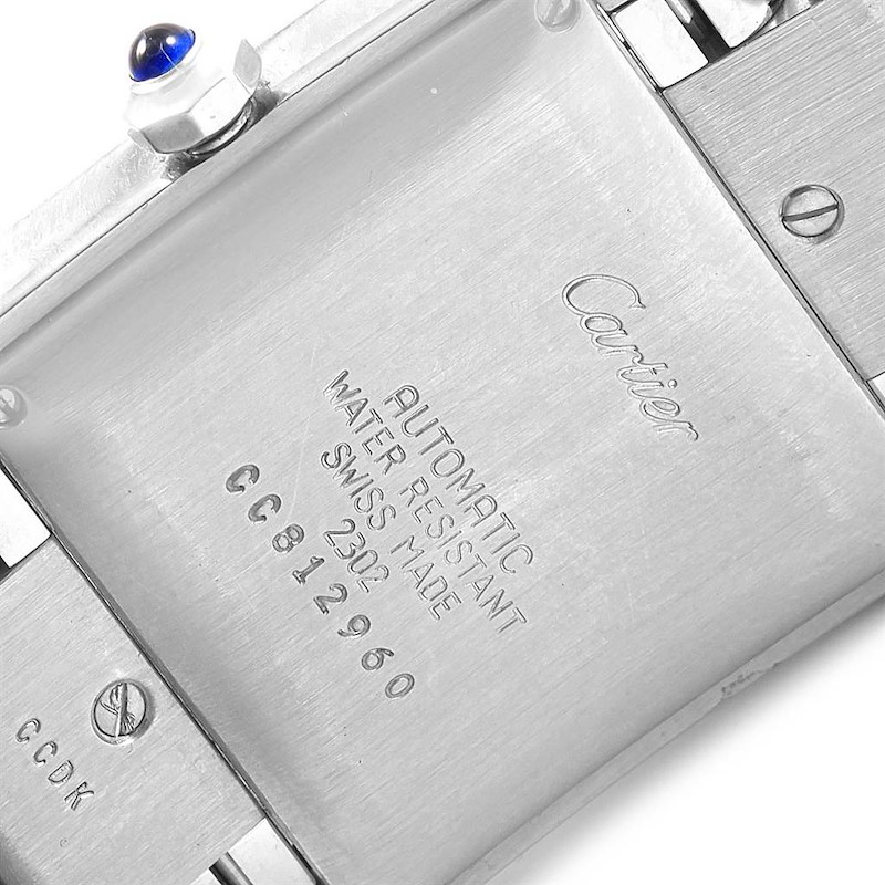 Cartier Tank Francaise Stainless Steel Automatic Mens Watch W51002Q3 SwissWatchExpo