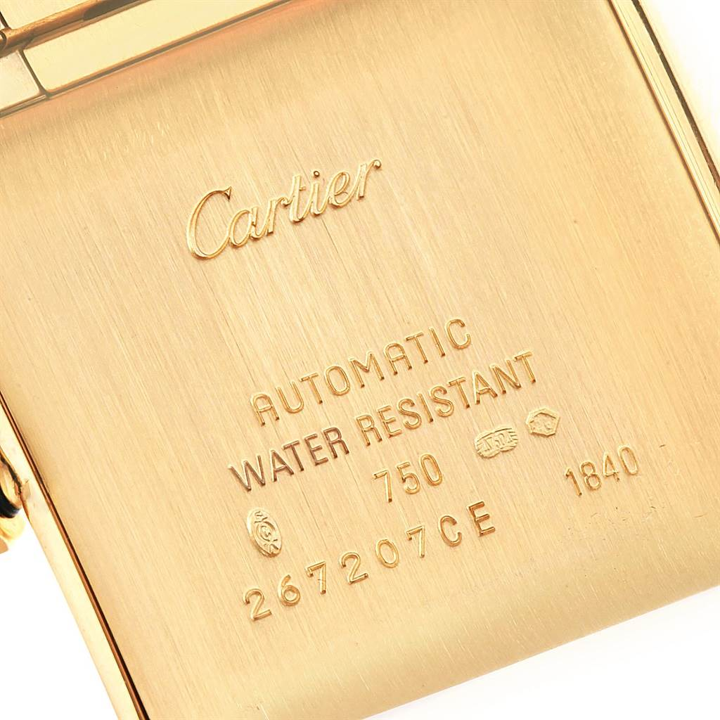 Cartier Tank Francaise Large 18K Yellow Gold Unisex Watch W50001R2 SwissWatchExpo