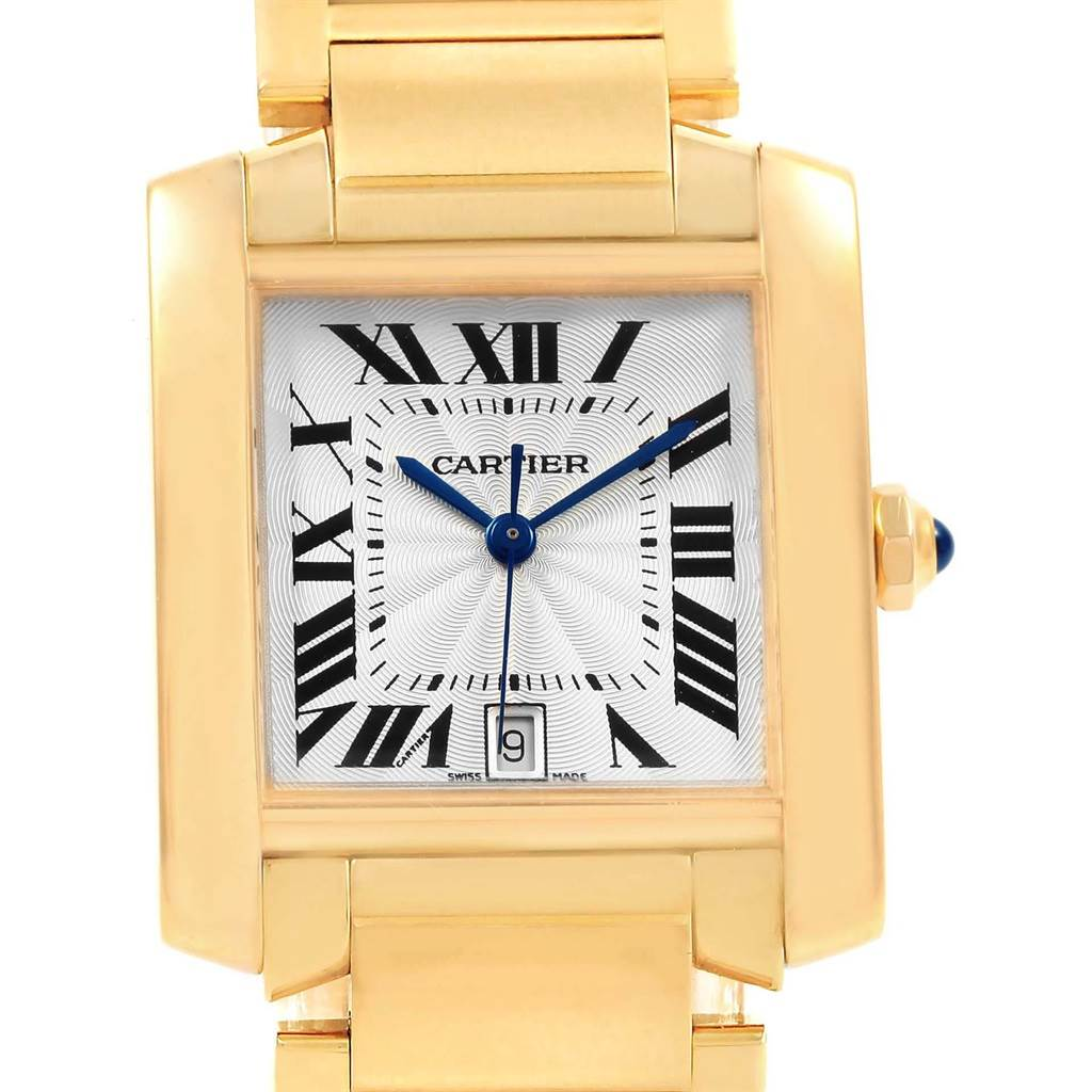 20830 Cartier Tank Francaise Large 18K Yellow Gold Unisex Watch W50001R2 SwissWatchExpo