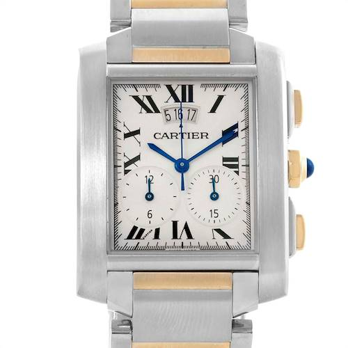 Photo of Cartier Tank Francaise Steel 18K Yellow Gold Chrongraph Watch W51004Q4