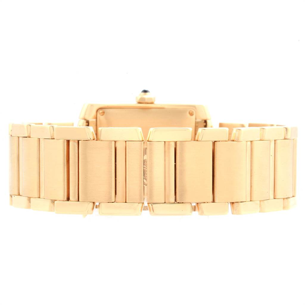23138 Cartier Tank Francaise Large Yellow Gold Automatic Mens Watch W50001R2 SwissWatchExpo