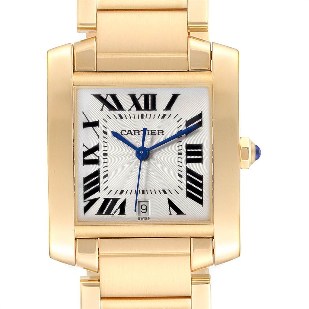 Cartier Tank Francaise Large Yellow Gold Unisex Watch W50001R2 Box Papers SwissWatchExpo