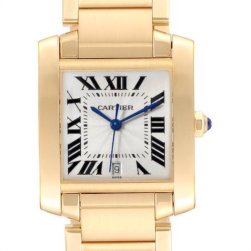 Photo of Cartier Tank Francaise Large Yellow Gold Unisex Watch W50001R2 Box Papers