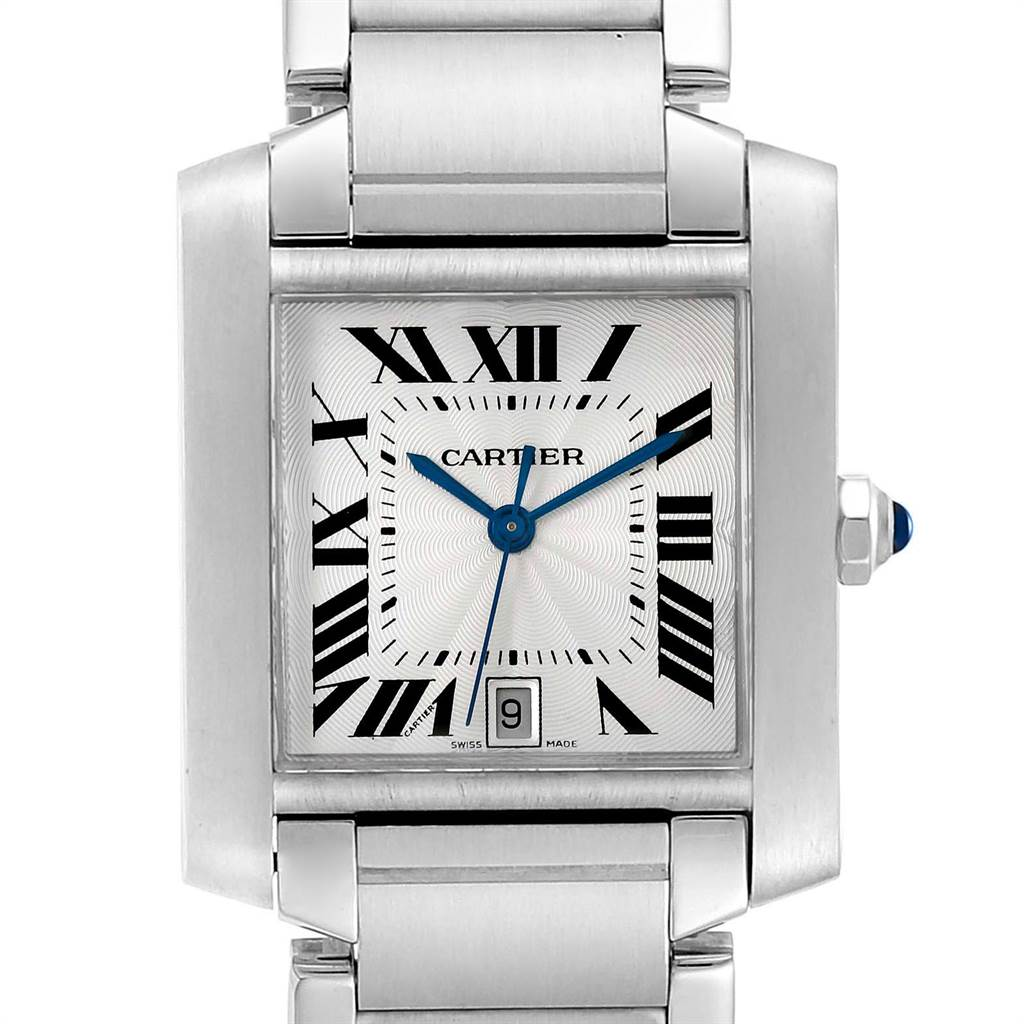 23892 Cartier Tank Francaise Large Steel Automatic Mens Watch W51002Q3 SwissWatchExpo
