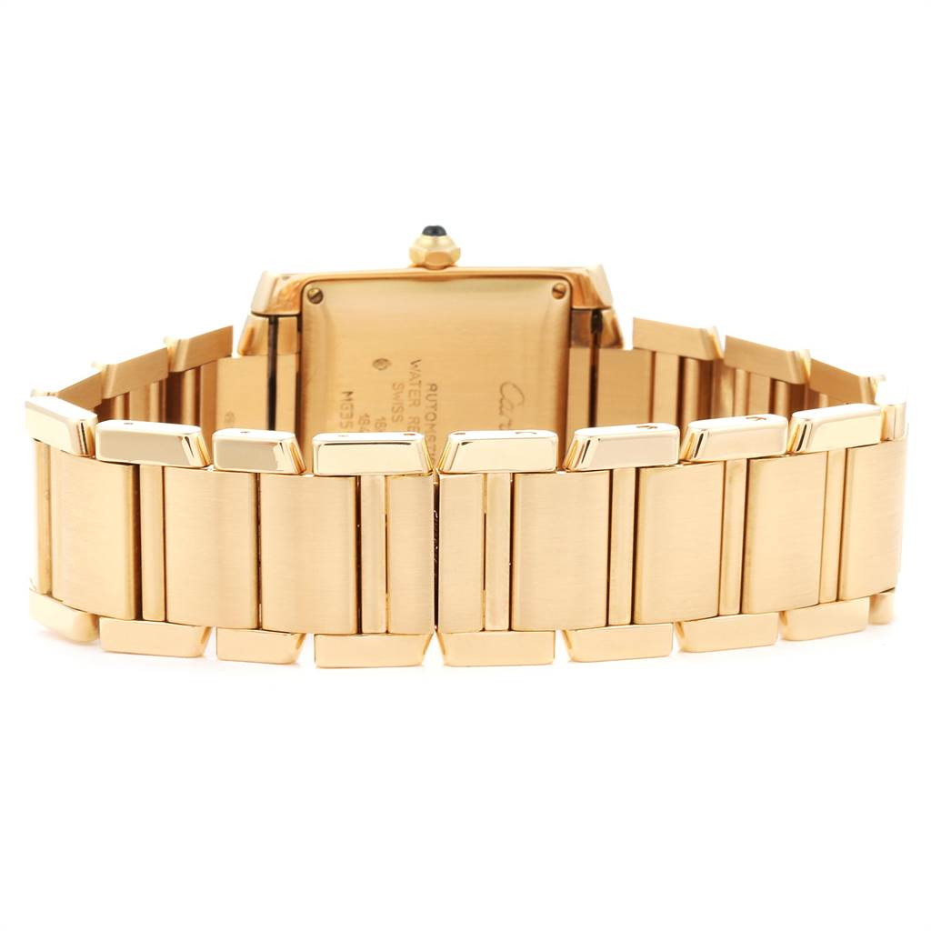 23898 Cartier Tank Francaise Large Yellow Gold Automatic Mens Watch W50001R2 SwissWatchExpo