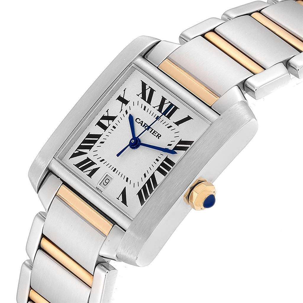 23880 Cartier Tank Francaise Large Steel Yellow Gold Mens Watch W51005Q4  SwissWatchExpo