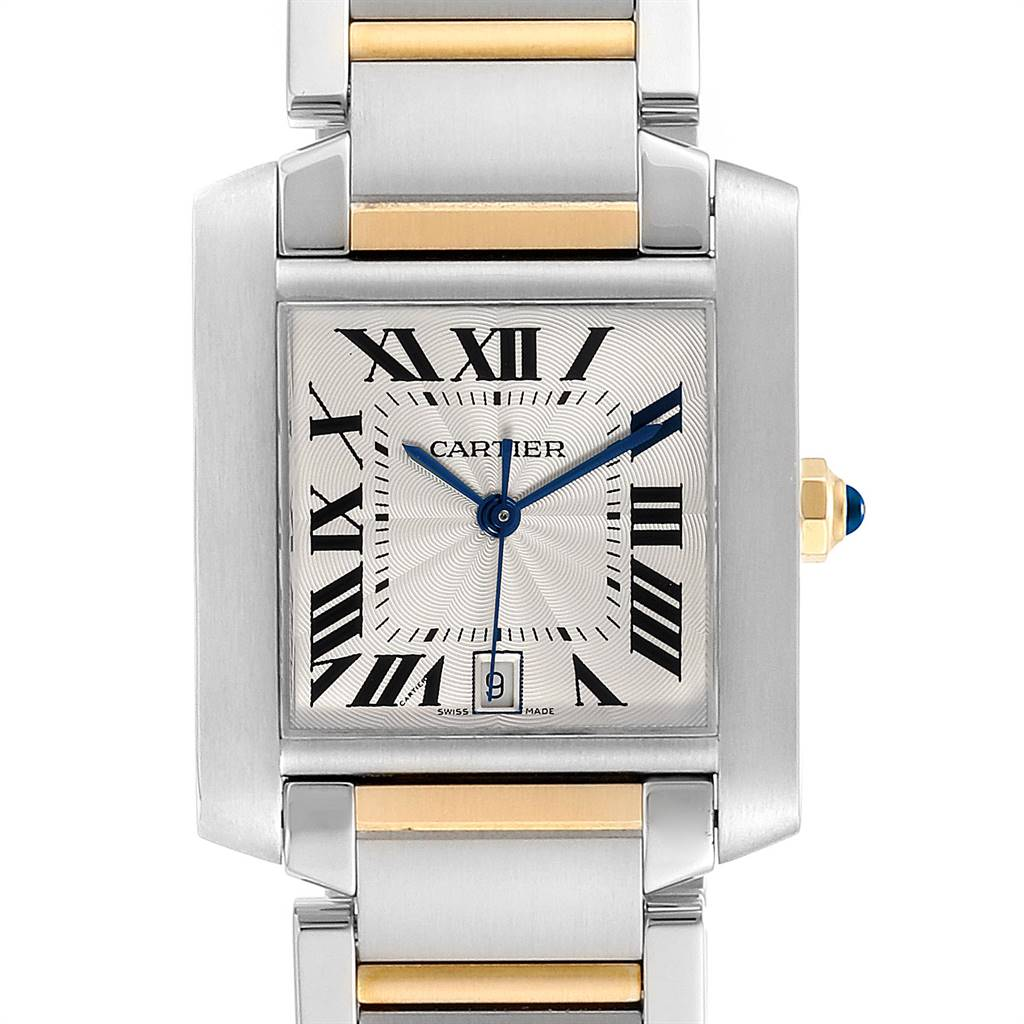 Cartier Tank Francaise Steel 18K Yellow Gold Mens Watch W51005Q4 SwissWatchExpo