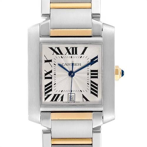 Photo of Cartier Tank Francaise Steel 18K Yellow Gold Mens Watch W51005Q4