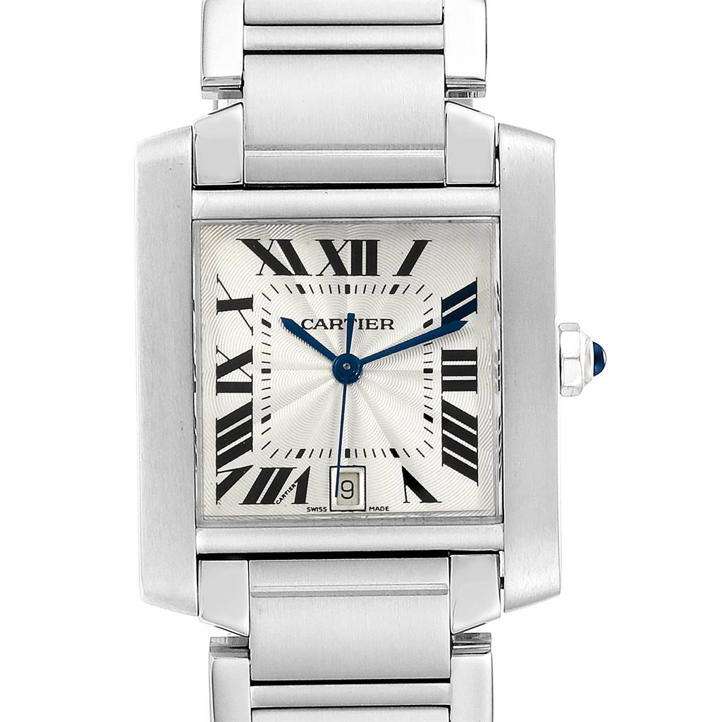 23891 Cartier Tank Francaise Large Steel Automatic Mens Watch W51002Q3  SwissWatchExpo