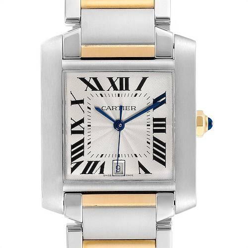Photo of Cartier Tank Francaise Steel Yellow Gold Mens Watch W51005Q4 Box Papers