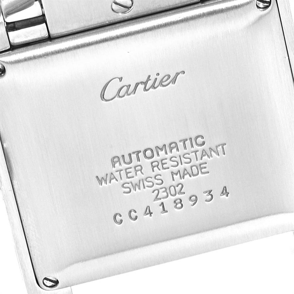 Cartier Tank Francaise Steel Yellow Gold Mens Watch W51005Q4 Box SwissWatchExpo