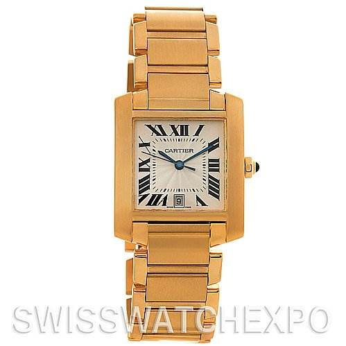 2646 Cartier Tank Francaise Large 18K Yellow Gold W50001R2 SwissWatchExpo