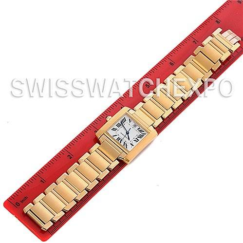 Cartier Tank Francaise Large 18K Yellow Gold W50001R2 SwissWatchExpo